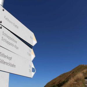 Wegweiser zum Gipfel