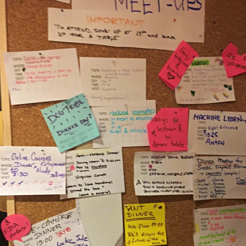 Meetup-Wand Nomadcruise