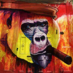Streetart mit Zigarre