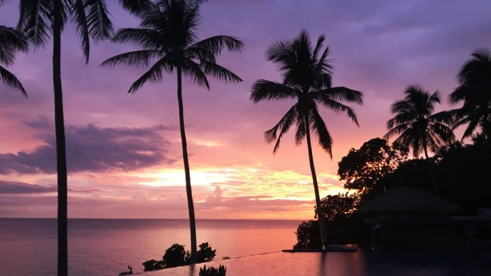 Philippinen Sonnenuntergang