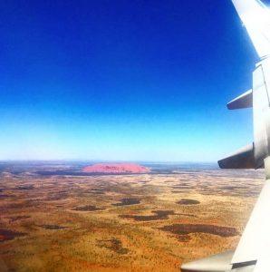 Uluru aus dem Flugzeug, Ayers Rock, www.soultravelista.de