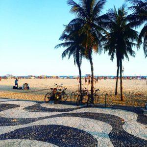 Das typische Muster der Copacabana...