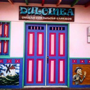 Bunte Häuser in Guatape