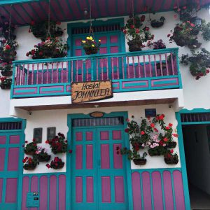 Bunte Häuser in Salento