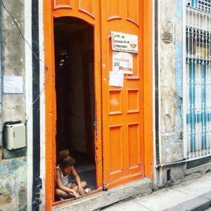 Die orangene Tür...